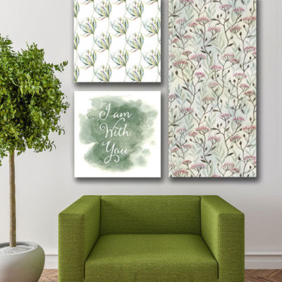 filed of flowers wall art
