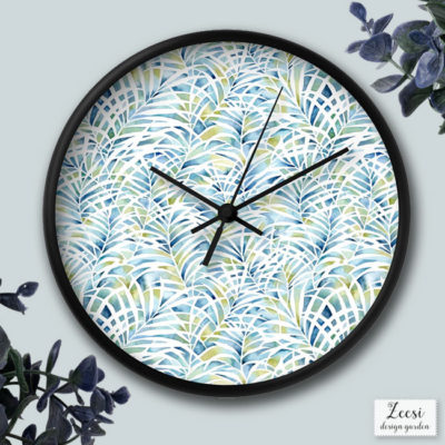 palm garden wall clock